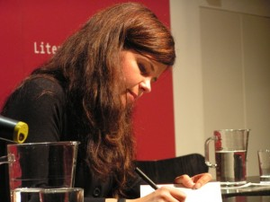 Julia Franck - Lesung im Literaturhaus München am 10.10.2007