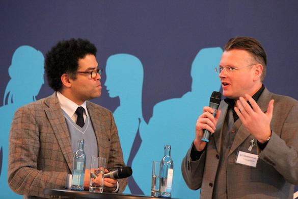 Leipziger Buchmesse 2014_Ijoma Mangold und Wolfgang Tischer