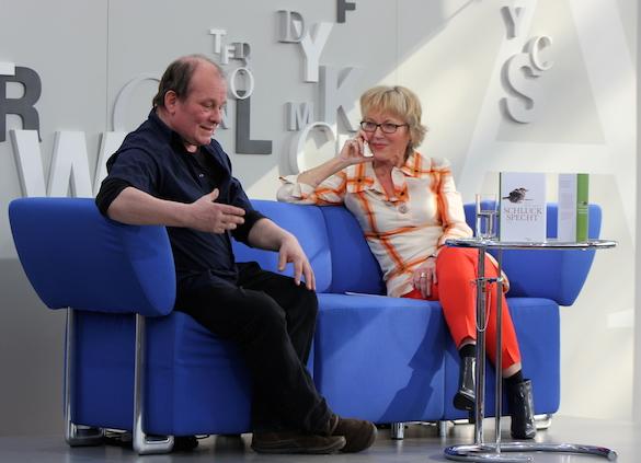 Leipziger Buchmesse 2014_Peter Wawerzinek und Luzia Braun